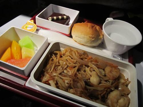 チャイナ航空機内食