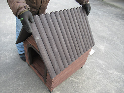 アイリスオーヤマ ログ犬舎LGK-750 レビュー犬小屋 中型犬 屋外 木製