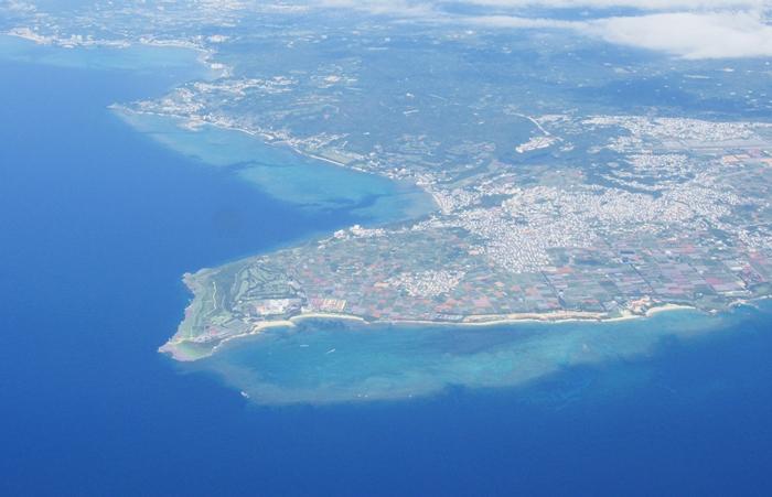 ハレクラニ沖縄の紹介 空から見た結縄の景色の画像