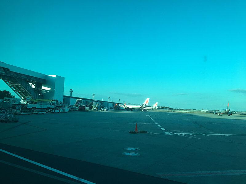 成田空港に飛行機が到着したがぞう