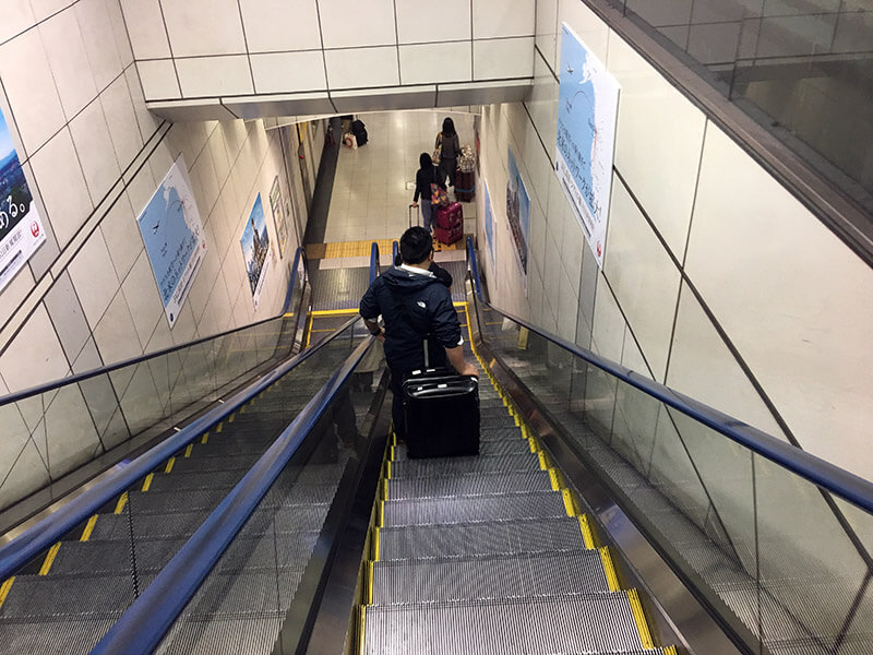 成田空港第3ターミナル(LCC)に到着し第2ターミナルの電車駅に行くまでの時間を計った【57分】