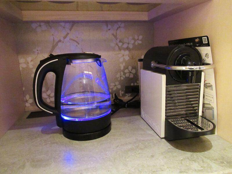ソレスト高千穂 口コミ 特別室B 湯沸かし器の写真