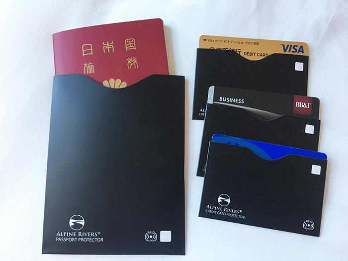 パスポート、ICカードスキミング防止カバー