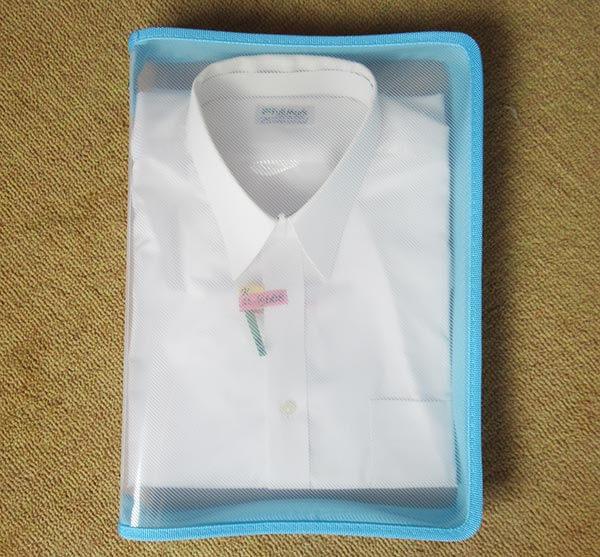 キャリーバッグの詰め方のコツ Yシャツの入れ方