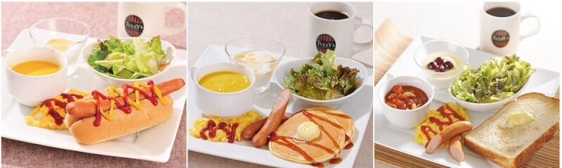 ホテルユニゾ福岡天神の朝食メニューの写真
