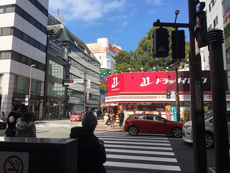 福岡天神ホテルユニゾに泊まってみた!【タリーズの上でべんり&眺めがすごくいい】ホテル周辺掘写真の